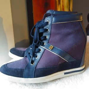 Tommy Hilfiger Hidden Wedge HighTop Sneakers Sz.10